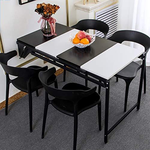 Inklapbare keukentafel van hout, multifunctionele klaptafel, computertafel, wandrek, hangrek, wandplank, langwerpig keuken- en eettafel, ontbijttafel 4 C