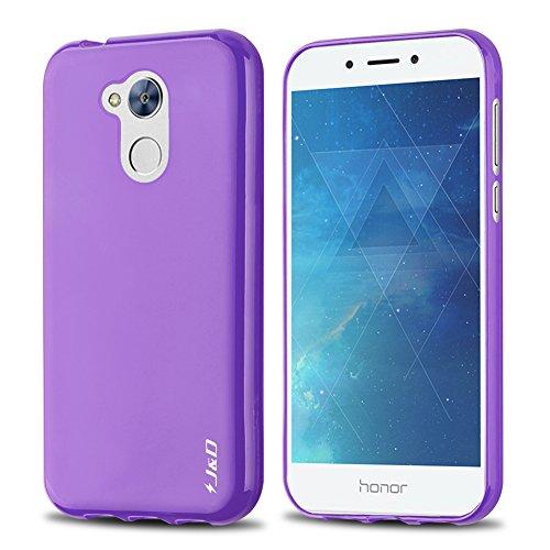 JundD Kompatibel für Huawei Honor 6A Hülle, [Leichtgewichtig] [Fallschutz] Stoßfest TPU Slim Hülle für Huawei Honor 6A - Violett