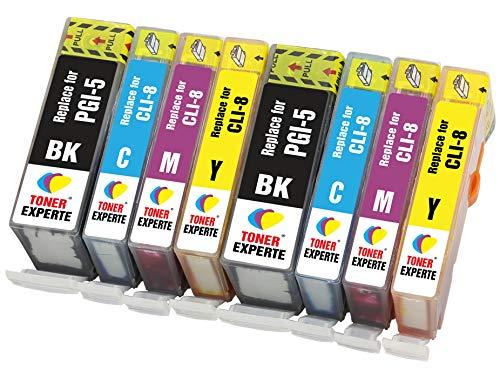 PGI-5 CLI-8 TONER EXPERTE® 8 XL Druckerpatronen kompatibel für Canon Pixma iP3300 iP3500 iX4000 iX5000 MX700 MP510 MP520 PGI-5BK CLI-8C CLI-8M CLI-8Y | hohe Kapazität