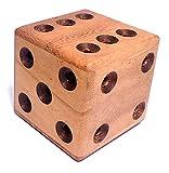 Logica Juegos Art. Dado Laberinto - Rompecabezas 3D de Madera Preciosa - Dificultad 4/6 Extrema - Colección Leonardo da Vinci