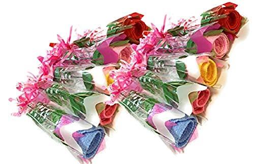 ミニタオル ギフト バラ タオル 贈り物 プレゼント 10本セット