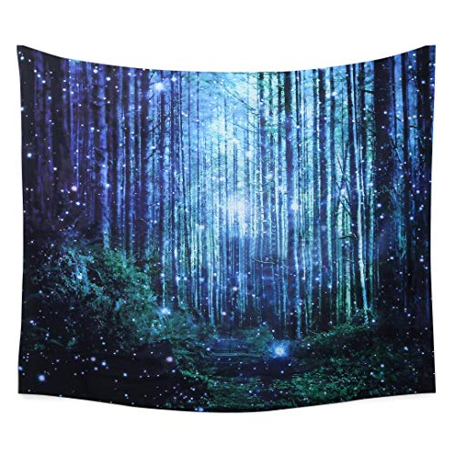 YANGDD European Floral 3D Wall Hanging Tapestry Creative Forest Bamboo Fluorescent Realistic 3D Tapestry Home Decor Tree Print Wall Art Tapestry Beach Sun Shawl Scarf Bedspread Blanket-150x200CM