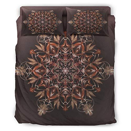 Twelve constellations Juego de cama de 4 piezas, divertido y transpirable, con impresión, color blanco, 203 x 230 cm