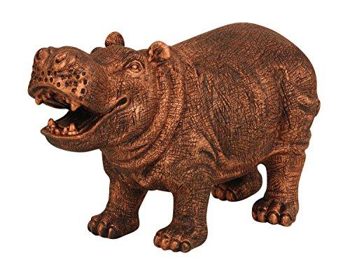 Brubaker Skulptur Nilpferd 44 x 27 cm bronzefarben für Haus- oder Garten