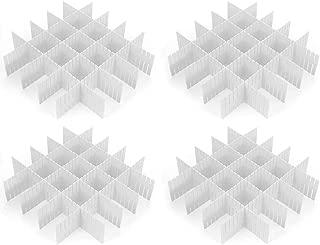 Croing - 32 pcs White - Drawer Dividers - Drawer Organizer - Drawer Separators