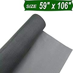 PERFECT FIBERGLASS SCREEN MESH for all screening applications: new and replacement window screens, window screen repair, screen door, porch screen, patio screening, insect screening, pet screen, patio screen repair, and other professional and DIY scr...