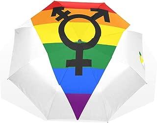 Umbrella Lgbt Symbols Golf Sun Rain Windproof umbrellas with UV Protection for Womens Mens Kids Girls Boys