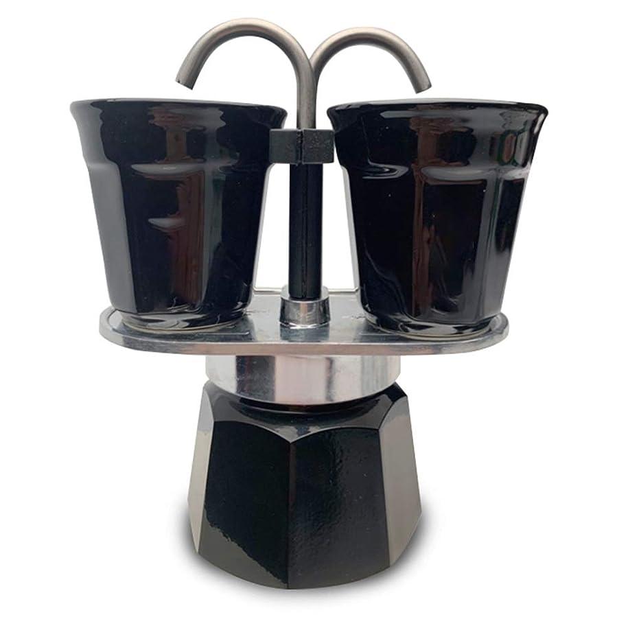 構造的偏見郵便番号モカポット モカポットエスプレッソコーヒーメーカーダブル家庭用エスプレッソコーヒーポットモカマシーン (色 : Black, Size : 2cup)