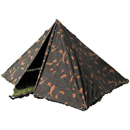 Original ungarische Armee Zelt 2 Mannzelt mit Gestänge BW Zelt Camping Poncho