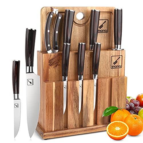 Japanese Knife Set, imarku Professional Knife Set with...
