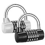 Sukudon Candado, Candado de combinación, 2 pcs Candado de combinación, 5 dígitos Candado de combinación