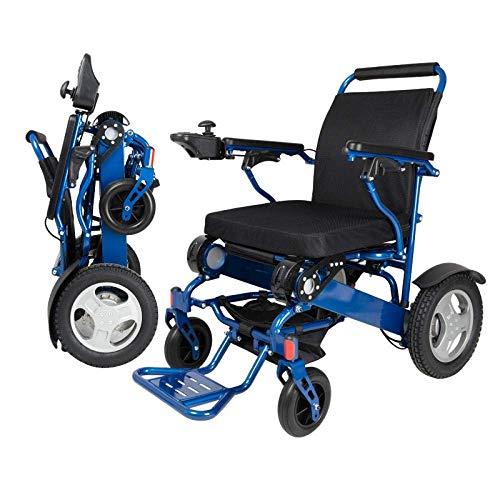 SILOLA Rollstühle Tragbarer zusammenklappbarer Elektrorollstuhl gelb für Behinderte Ergonomisch geeignet für ältere Menschen und Reisende