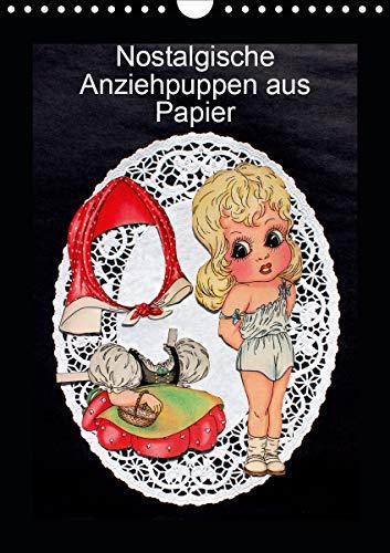 Nostalgische Anziehpuppen aus Papier (Wandkalender 2021 DIN A4 hoch)