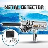 MOIMK Detector de Metales para Adultos/niños, Detector de Metales 3D AKS de Largo Alcance con 6 Antenas 6000 Metros / 19685ft búsqueda por Rango 100M / 328 pies de Profundidad Detección,Plata