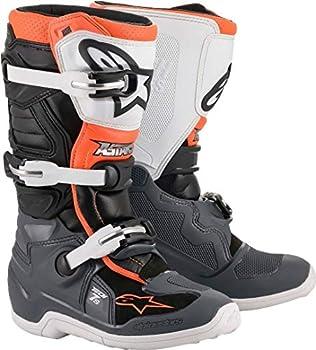 Bottes Moto Cross ALPINESTARS Tech 7S Black Gray White Orange Fluo-37