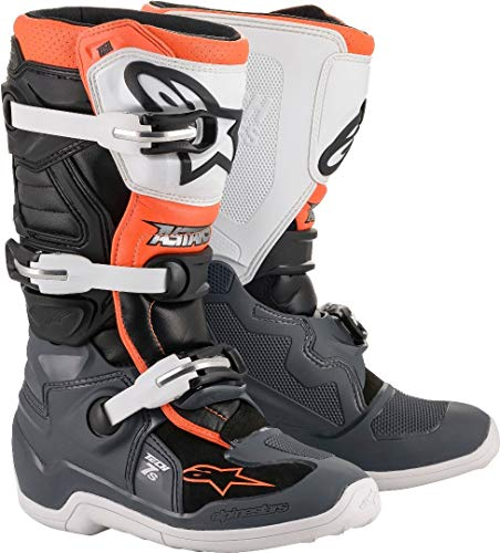Bottes Moto Cross ALPINESTARS Tech 7S Black Gray White Orange Fluo-39