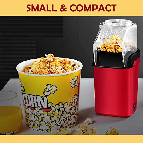 Sale!! Panzisun Household Electric Popcorn Popper Hot Air Automatic Making Machine with Detached Top...