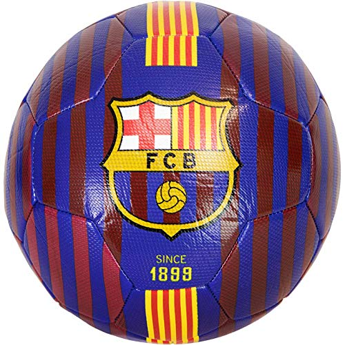 Brandunit FC Barcelona - Balón de fútbol (5, rayas)