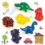 Ventvinal 6 Piezas de crayones de Cera de Dinosaurio, Juguetes para niños Seguros y no tóxicos, Ceras de Colores 1 año para niños, Juguetes Ceras de Colores para niños