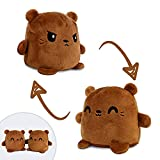 TeeTurtle   Plushmates   Otter   Brown   Happy + Angry   The Reversible Plush That Hold Hands!