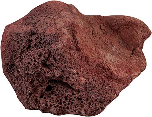 sera 32357 Rock Red Lava L (Stück von 16 bis 23 cm) Lavagestein bzw. Vulkangestein - Naturstein Deko fürs Aquarium