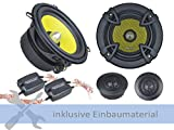 Ground Zero Lautsprecher GZTC130 230 Watt 130 mm 2-Wege Kompo für Kia Picanto 1 (BA) 2004-2011