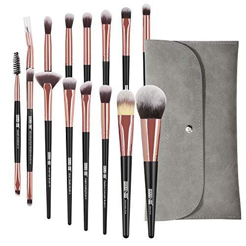 Make up pinsel set MAANGE 15Pcs pinselset Professionelle schminkpinsel set Premium Synthetic...