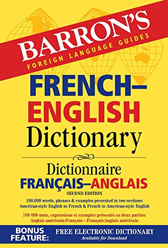 Compare Textbook Prices for French-English Dictionary Barron's Bilingual Dictionaries Second Edition ISBN 9781438007083 by Martini, Ursula