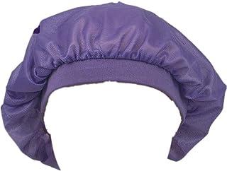Soft Sleep Cap Night Satin Bonnet with Wide Premium Elastic Band for Women Purple