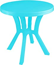 El Helal and Star Carmin Plastic Round Table, 70 cm - Turquoise
