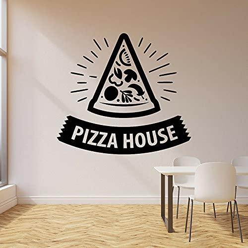 HGFDHG Pizza House calcomanías de Pared Sabor auténtico Calidad Puertas y Ventanas Pegatinas de Vinilo pizzería Cocina Cocina Italiana Restaurante decoración