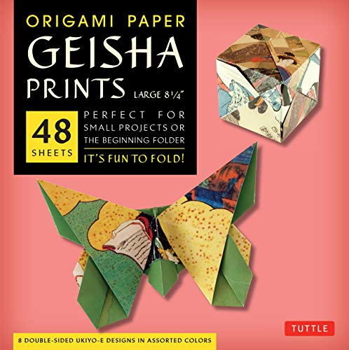 Origami Paper Geisha Prints: Large: Tuttle Origami Paper: High-Quality Origami Sheets Printed with 8 Different Designs: Instructions for 6 Projects Included