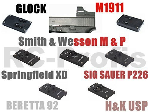 VECTOR OPTICS Adapter Montageplatte für DOCTER Sight C / II / III , VECTOR Sphinx , Meopta Meosight, auf Glock, M1911, Springfield XD, HK USP, Smith & Wesson MP, SIG P226, Beretta 92 (Beretta 92)