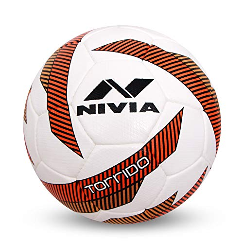 Nivia 279 Torrido Pu Football, Size 5 (White/Green)