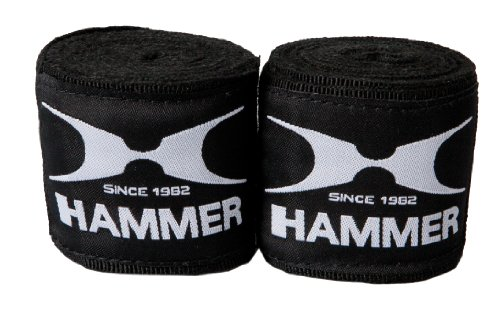 Hammer - Vendaje para boxeo negro Talla:4.5 M