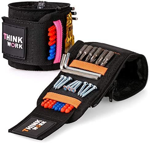 THINKWORK Magnetic Wristband Gifts for Men with 23 Strong Magnets for Holding Screws Nails Drill product image