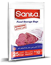 سانيتا اكياس حفظ الطعام رقم 10 ، 25 كيس ، قابل للتحلل