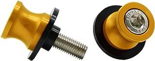 2pcs M10 X1.25 Motorcycle Swing arm Sliders Spools CNC Swing Arm Stand Screw for FZR 1000/600R/400 for Kawasaki Z750 /Z750S/ Z750R /ER-6F /ER-6N /Versys 1000 Duke 125/200/390 RC 125/200/390(Gold)