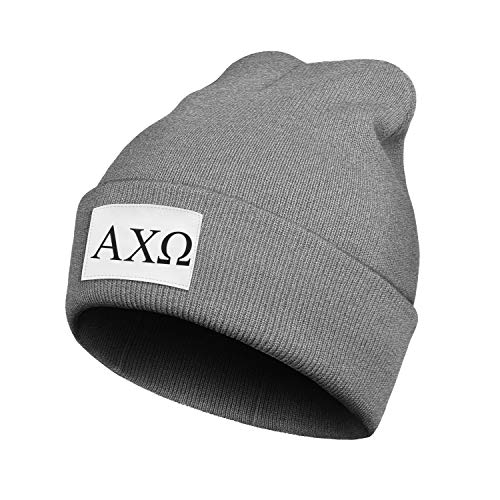 Alpha Chi Omega Logo Acrylic Knit Hat Winter Warm Cuffed Thick Skull Cap Unisex
