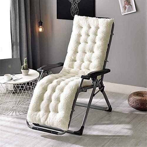 Guoz Fleece Cojín de Tumbona súper Suave Cojín reclinable Patio,Almohadilla Gruesa de jardín Cubierta de Asiento al Aire Libre Cómodo-160 * 50 * 12 cm (Verde)