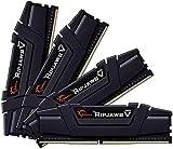 G.Skill RipJaws V Series 128GB (4 x 32GB) 288-Pin SDRAM PC4-21300 DDR4 2666 CL18-18-18-38 1.20V Quad Channel Desktop Memory Model F4-2666C18Q-128GVK