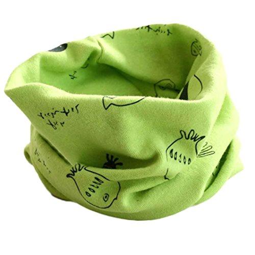 Tefamore O Invierno De Las Muchachas De Las Bufandas De Cuello Collar Del Bebé PañUelo De AlgodóN O De Anillo (Verde2)