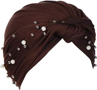 MoreChioce Turbante con Beading Pieghe,Copricapo Headwear Bandane per Chemo Cap,Cancro cap Chemioterapia la Perdita di Cap...
