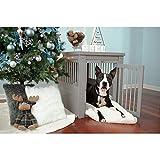 New Age Pet ecoFLEX Pet Crate/End Table, Medium, Grey