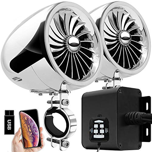 Aileap MX150 Sistema de Audio con Amplificador de Moto con AUX, USB,...