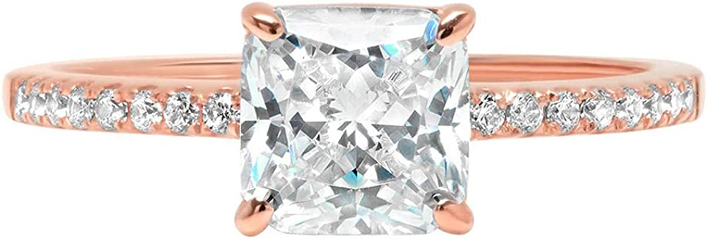 1.66ct Asscher Round 2021new shipping Al sold out. free Cut Classic Designer Brid Wedding Solitaire