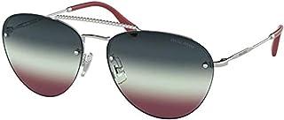Miu Miu MU54US Silver MU54US Pilot Sunglasses Lens Category 1 Size 59mm