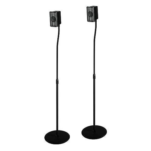 Black 123 cm//5 kg Hama 49594 Speaker Slim Stand