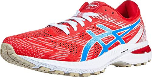 ASICS Women's GT-2000 8 Running Shoes, 5.5M, Classic RED/Electric Blue