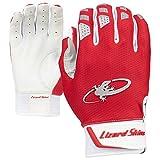 Lizard Skins Komodo V2 Youth Baseball Batting Gloves (Crimson Red, Large)